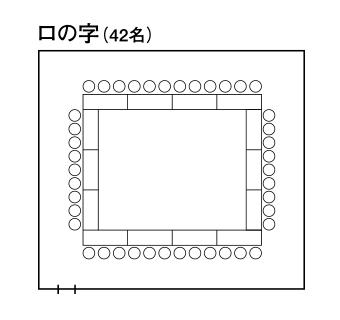 中会議室2「十字星」 - ロの字形式