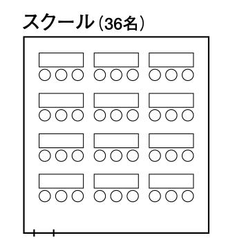 中会議室1「ルミエール」半室 - スクール形式