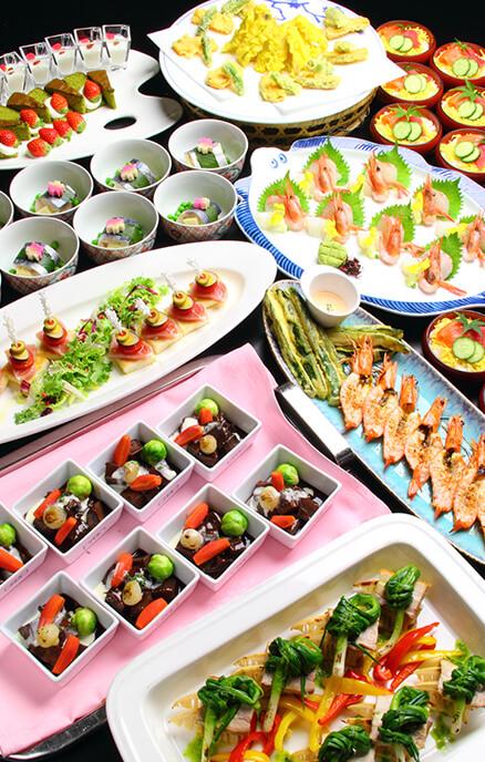 歓送迎会プラン 和洋折衷プランの料理イメージ写真